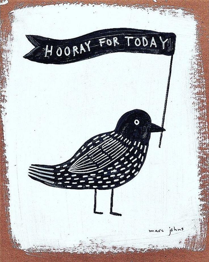 Illustration @marcjohnsart ~ Seen on HappyMakersBlog.com #instagram