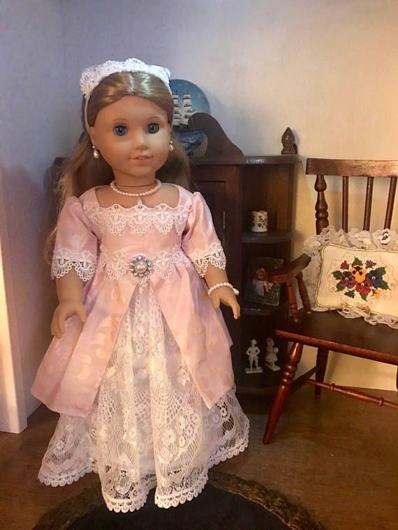 Colonial Tea Gown for America Girl Elizabeth