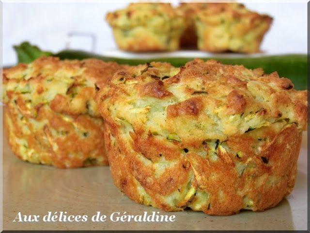 Aux délices de Géraldine: Moelleux au chèvre et à la courgette