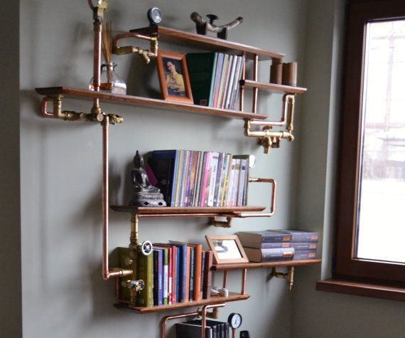 This is a copper pipe and pallet wood shelf.Super easy with minimum tools.I'm Going to do a small basic shelf for my paint and you can add from thereFirst off go grab you a good looking pallet. You can buy them on craigslist or other online ads, you can buy them for small businesses, or go dumpster diving.The copper piping I got from my local junkyard. I went out and collected parts for various things for awhile.The only parts I had to buy in store is the Flanges, and the copper cap.
