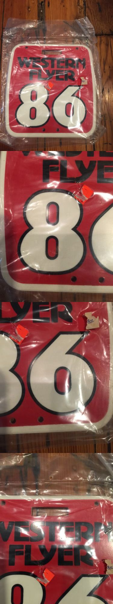 Decals Stickers 106953: Vintage Nos Old School Western Flyer Number Plate - Mx-Bmx BUY IT NOW ONLY: $56.35