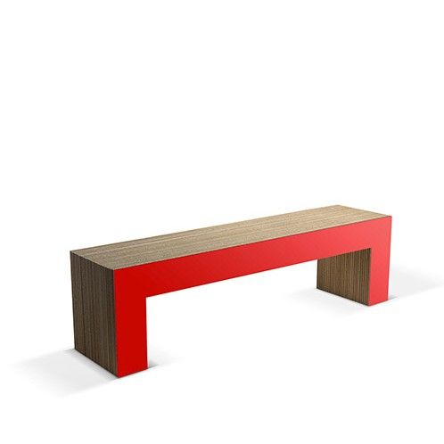 PANCA NR 7-160 - Carton Factory Designer: Skemp Design Misure: 160 X 40 X 45  #cartonfactory #ecodesign #cardboard #bench