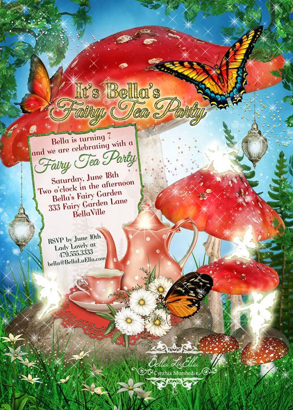 53 best Fairy cards images – Fairy Tea Party Invitations