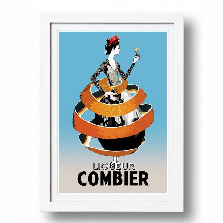 Vintage Style Poster Combier | Signed, Artist's print by Sarah Carter-Jenkins | The Block Shop - Channel 9