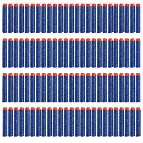 Topways® 100pcs Mousse Fléchettes Recharge Balle de Nerf pr N-STRIKE ELITE Blasters Pistolet Jouet Darts Refill Bullet for Toy Gun:…