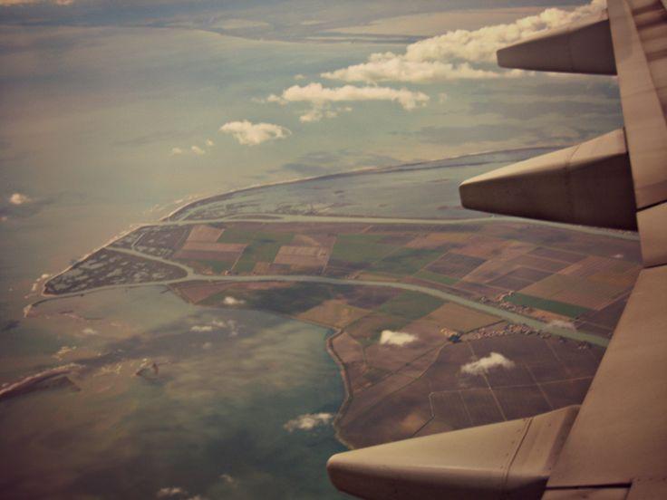 Delta del Po. Prima foto scattata da un aereo.
