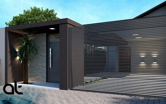 puertas-para-cocheras-modernas (1) - Curso de Organizacion del hogar #casasminimalistasinteriores