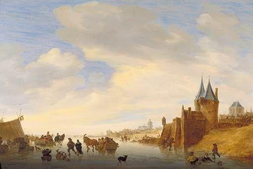 Salomon van Ruysdael, Winter Landscape at Arnhem, 1653