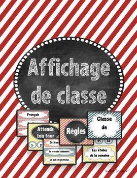 Affichage de classe pour la rentrée (French back to school)