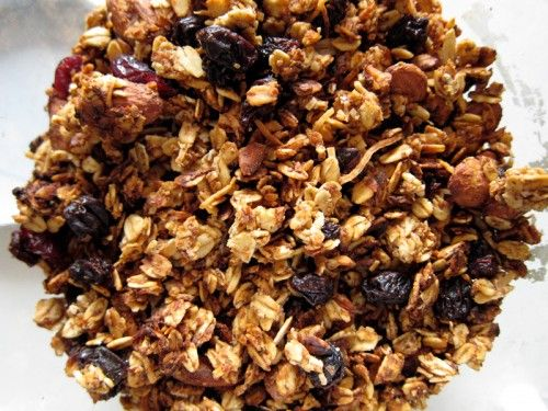Healthy, Crunchy, Clumpy Homemade Granola. (Uses Agave ...