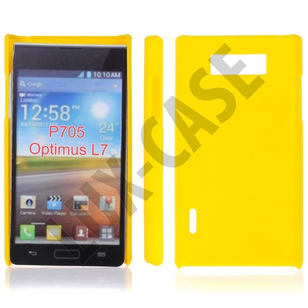 Hard Shell (Gul) LG Optimus L7 P700 Deksel