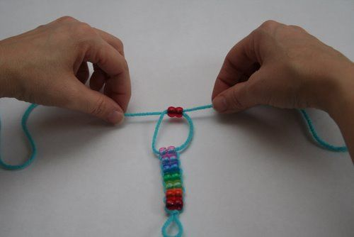 Rainbow bracelets tutorial.  Or you can make it any color combo you want.