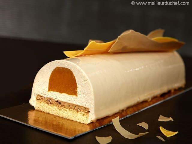 Bûche Zéphyr caramel, gelée d'abricots - Meilleur du Chef