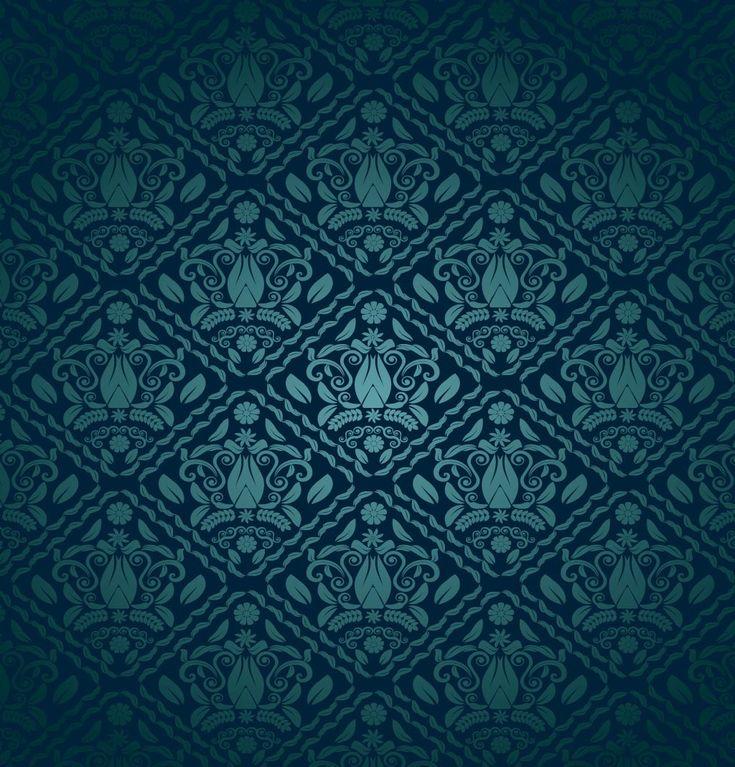 Blue Green Decorative Pattern Vector Art & Graphics | freevector.com