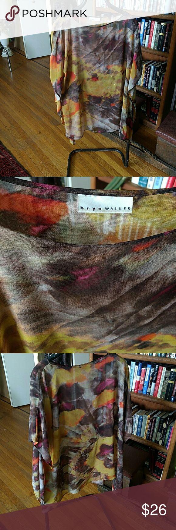 Bryn Walker sheer top Bryn Walker multi colored sheer top Bryn Walker Tops Blouses