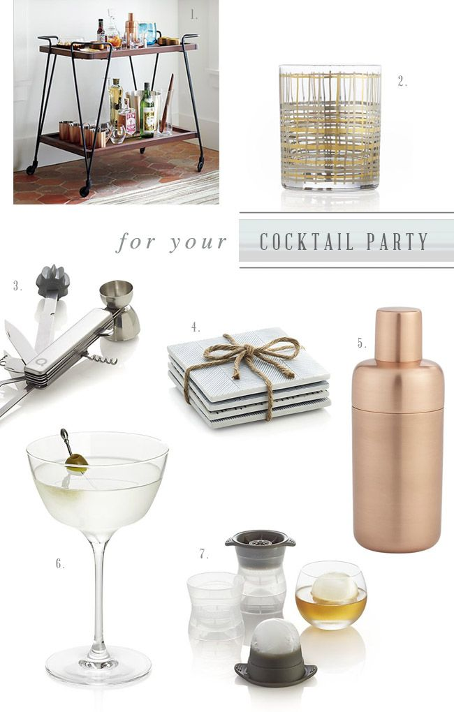 Crate & Barrel registry ideas for your cocktail party