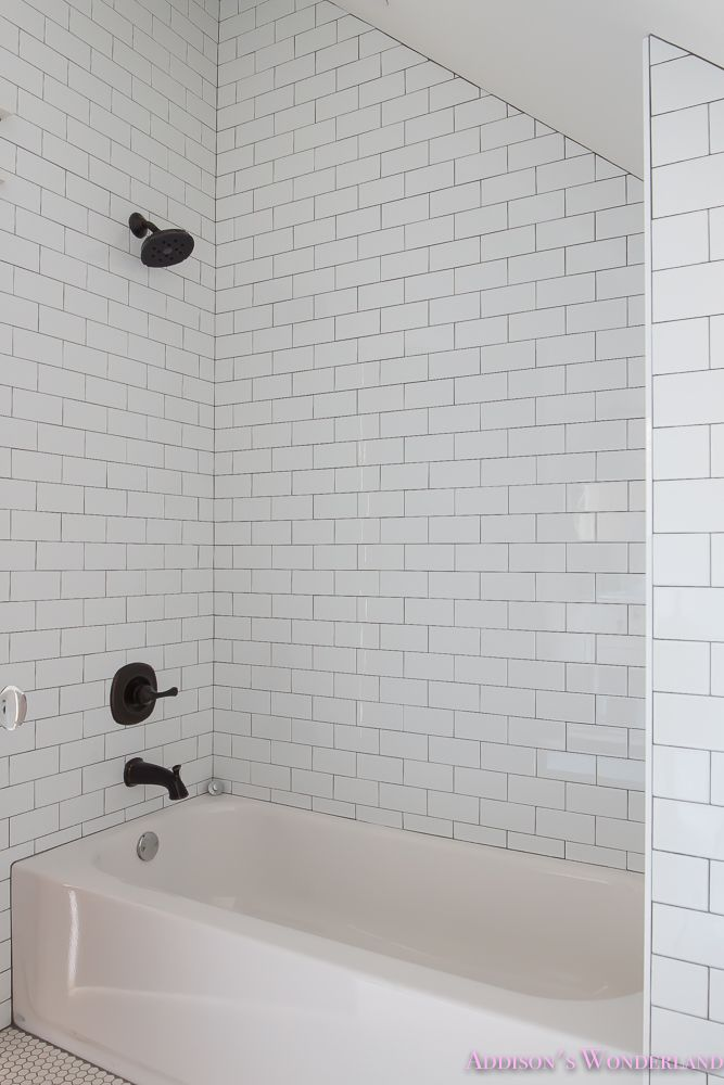 Addiebelle S Bedroom Suite Reveal White Subway Tiles