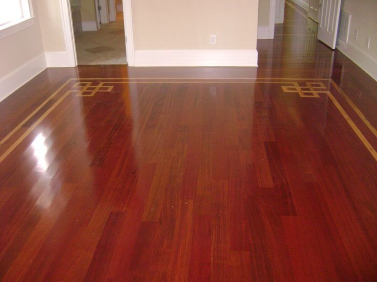 Wood Flooring With Cherry Inlay | Love The Cherry Wood Floor And The Gold  Inlay Pattern