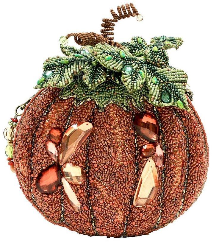 Mary Frances Smashing Pumpkin Orange Green Bag Purse Handbag NEW Resort 2014 #MaryFrances #EveningBag