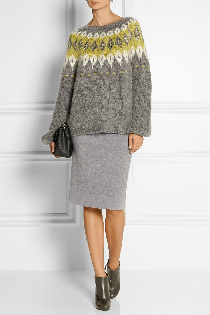 DAY Birger et Mikkelsen | Embellished mohair-blend sweater | NET-A-PORTER.COM