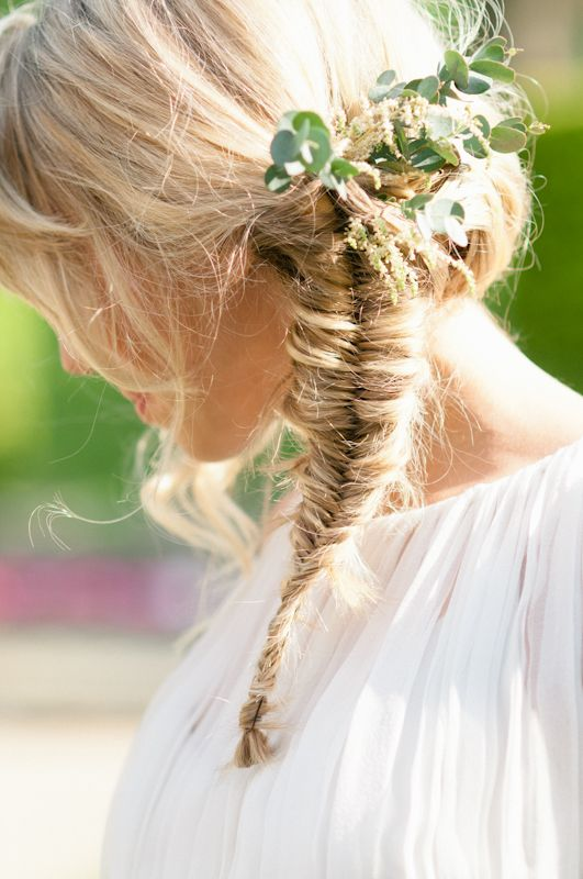 fishtail plait bride - styled shoot by Jessie Thompson and Taylor Barnes Photography