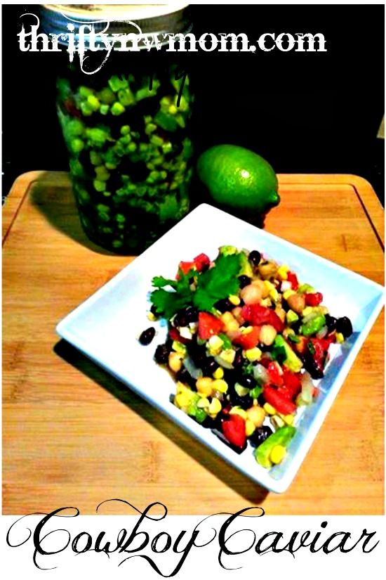 cowboy caviar recipe- easy for a summer dinner- when it is hot out! Serve with chips!