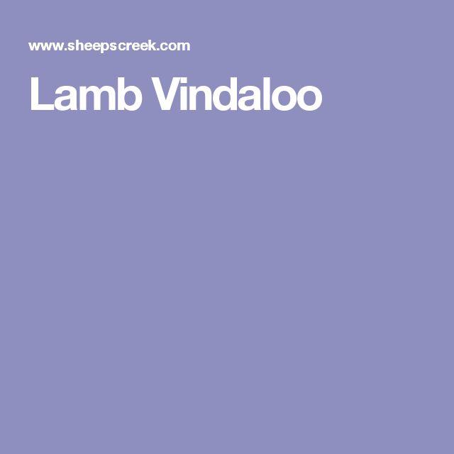 Lamb Vindaloo