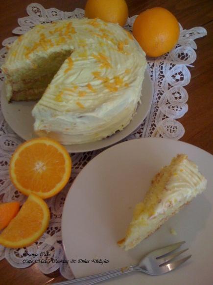 ORANGE CAKE | capemalaycooking