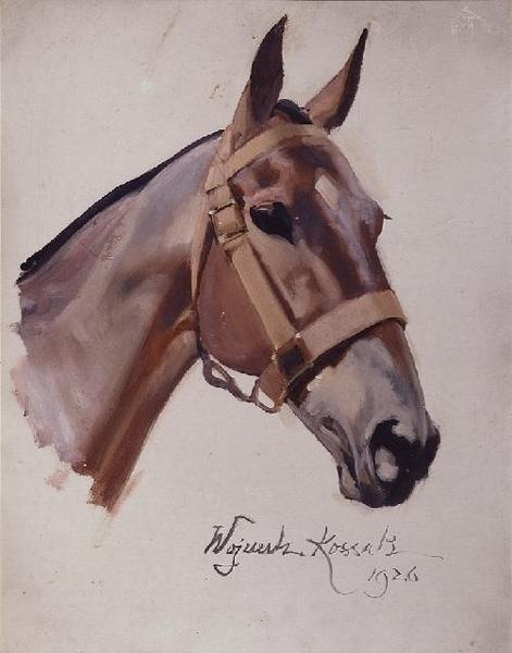 Horse's head - Wojciech Kossak