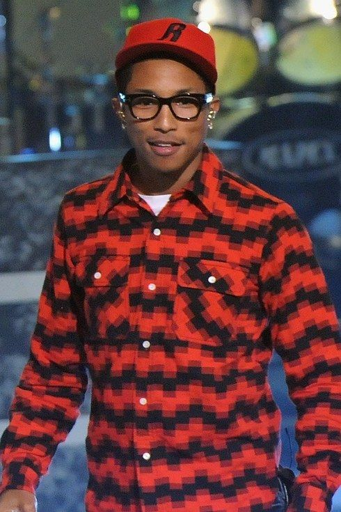Pharrell Williams wonders if you want to go to Crate and Barrel today. | 23 Pictures That Prove Glasses Make Guys Look Obscenely Hot