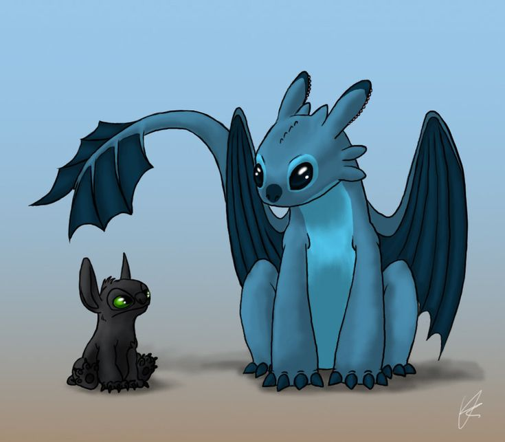 hee - Toothless and Stitch ?? by ~Wonie on deviantART