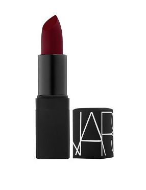 Pick up this lipstick for it's velvety finish that can be credited to a ton of vitamin E. Smooth. Semi Matte Lipstick in Scarlet Empress, $27; narscosmetics.com.