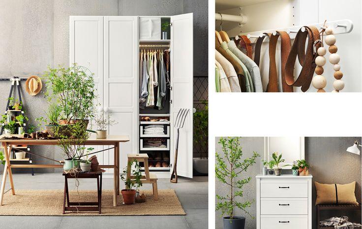 IKEA äntligen ordning - bild på TYSSEDAL garderob med lantgårdskänsla