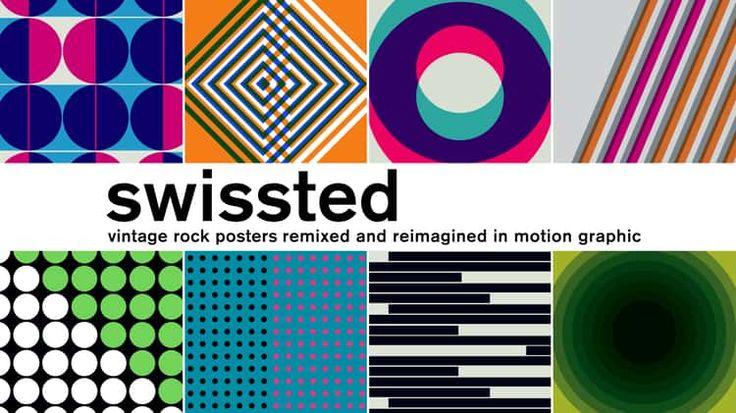 S-W-I-S-S-T-E-D / Rock posters remixed in motion graphics