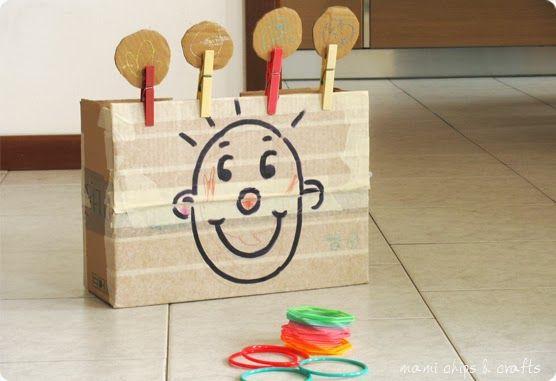 mami chips & crafts: Bersaglio con scatola di cartone
