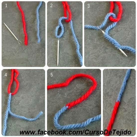 como emendar dois fios de crochê sem nó                                                                                                                                                                                 Mais