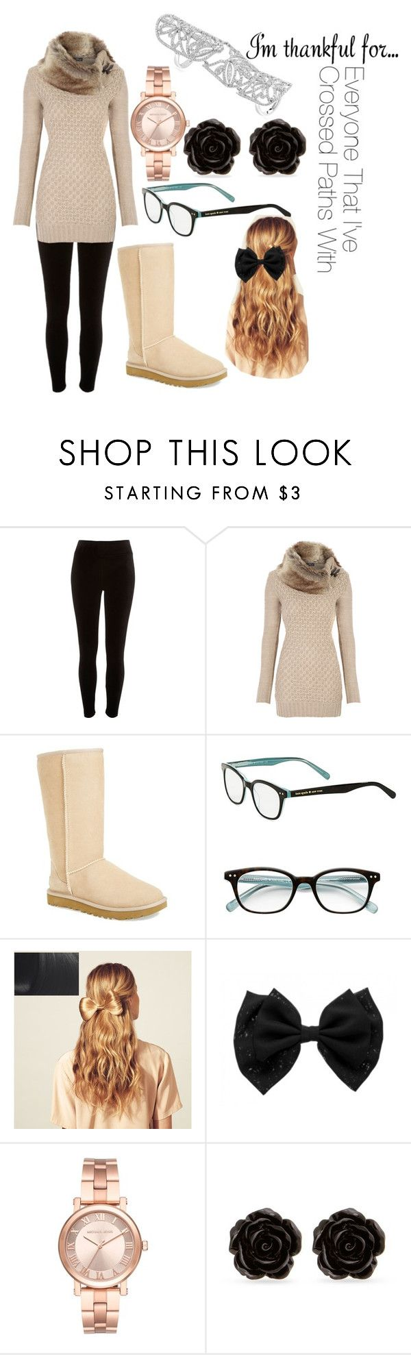 """""""Making The Turkey"""" by angel-huntress on Polyvore featuring River Island, UGG, Kate Spade, Hershesons, Michael Kors, Erica Lyons, Odelia and imthankfulfor"""