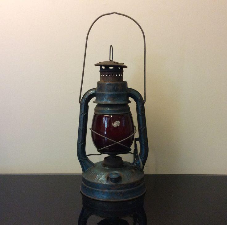 Dietz Little Wizard Lantern with Red Glass Globe by Modernismus