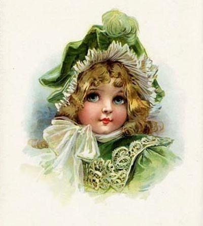 Flor Lilás Vintage: Crianças Vitorianas e Vintage
