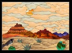 Stained Glass Pattern Painted Desert
