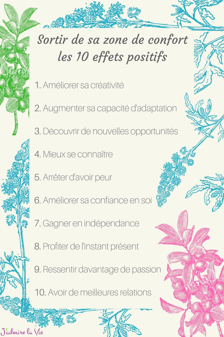 Sortir de sa zone de confort : les 10 effets positifs