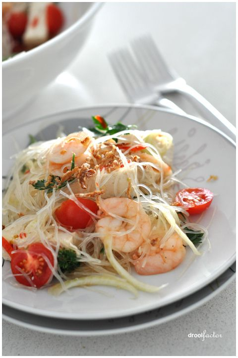 Summery Prawn, fennel and tofu salad with Glass Noodles