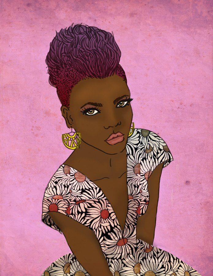 Black lady.  Negra linda.  Si te interesa la ilustración podes escribirme a sol.dlvega@gmail.com. If you like the illustration, please send me an email sol.dlvega@gmail.com