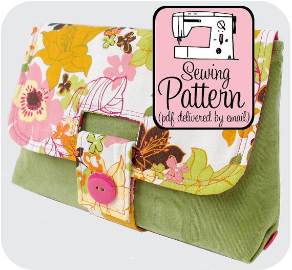 Sewing Pattern to Make a Strap Clutch - PDF Sewing Pattern (Instant Download) by michellepatterns | Etsy