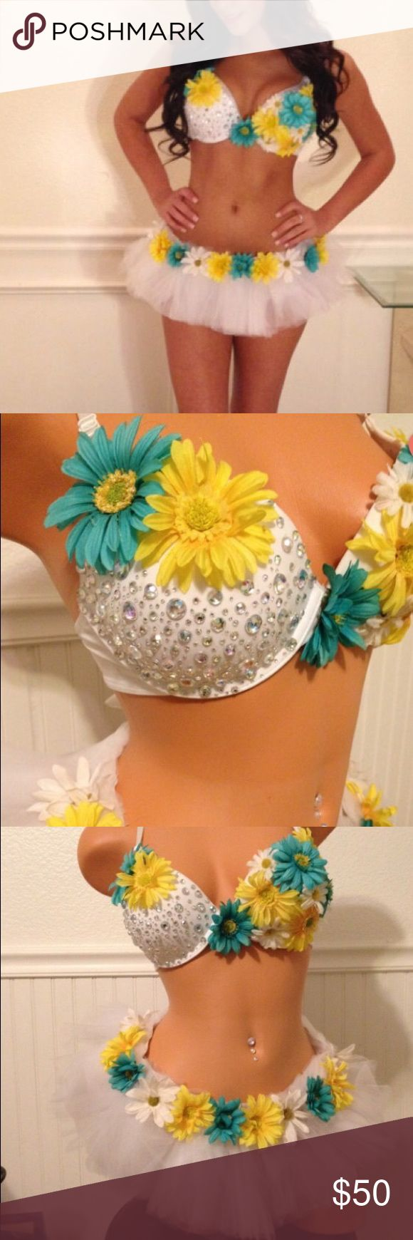 Rave costume Flower rave costume Intimates & Sleepwear Bras