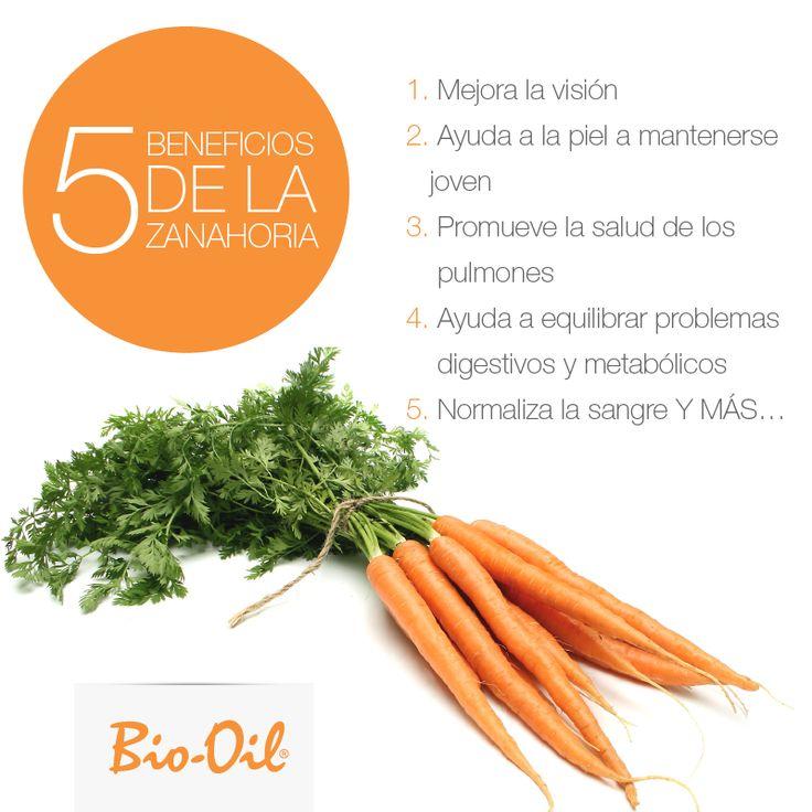 1 zanahoria, 5 beneficios. #Alimentacion #Salud #Bienestar.