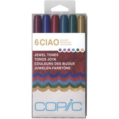 Copic Ciao Sets 6/Pkg-Jewel Tones