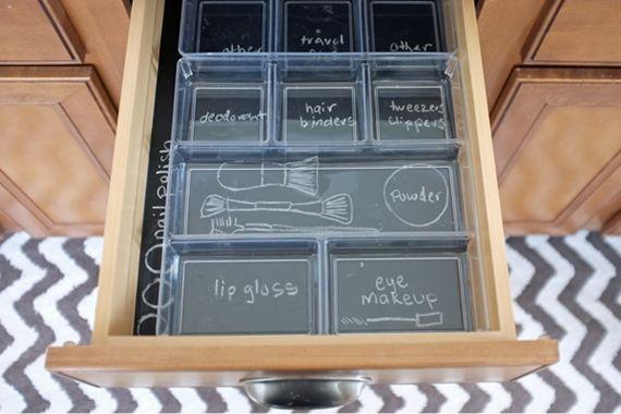 Ideia super legal para manter a gaveta sempre arrumadinha. o/