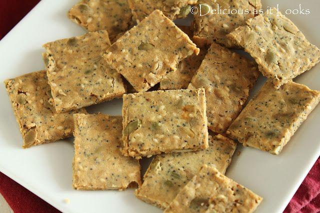 Rosemary-Almond Multi-Seed Crackers