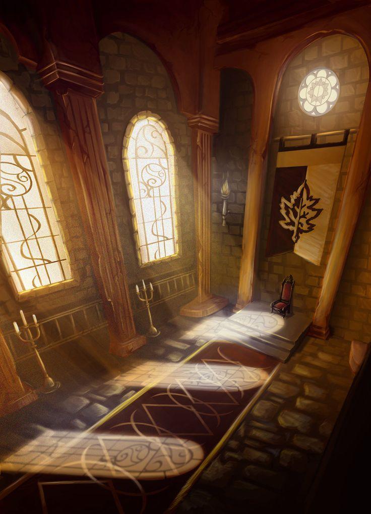 throne castle deviantart araluen apprentice medieval fantasy concept rangers ranger aaronsimscompany game north paintings digital english